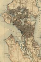Vintage Map of Seattle Washington (1908) 2