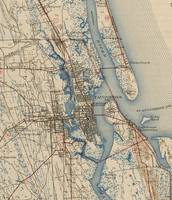 Vintage Map of St. Augustine Florida (1937)