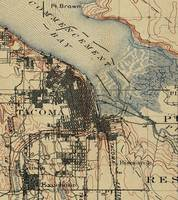 Vintage Map of Tacoma Washington (1895)