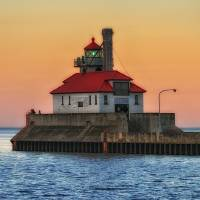 Lake Superior Lighthouse by Lisa Rich
