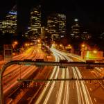 """Long Exposure Light Trails Urban City Industrial"" by callumjames"