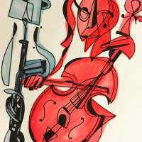 Ogunquit Cor Anglais Player and Cellist Art Prints & Posters by Pollux (Paul Morris)