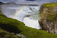 View of the Gulfoss Waterfall, Iceland