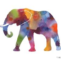 """""""Elephant"""" by k9artgallery"""