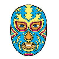 Luchador Mask Eagle Lightning Bolt Drawing