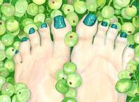 Green Grapes and Pedicure
