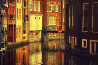 Golden Amsterdam Reflections
