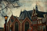 Oude Kerk. Red Lights District. Amsterdam