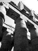 Pillars of the Great Hypostyle Hall Karnak Temple