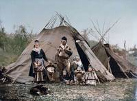 A Sami family in Norway around 1900