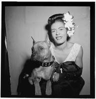 Portrait of Billie Holiday and Mister, by William