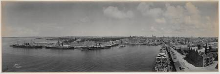 Panorama of Circular Quay from a ship's mast, 1903