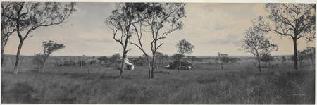 Panorama of Fitzroy Vale Station near Rockhampton,