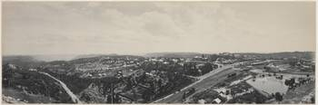 Panorama of Katoomba from atop a pole, 1903