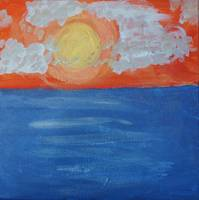 Contemporary Abstract Painting -  Abstract Sunset,