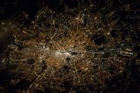 Night View of London , from ISS, NASA