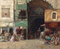 Alberto Pasini , Marketplace at the entrance to a