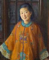 Charles Courtney Curran, portrait of Liang L-Ling