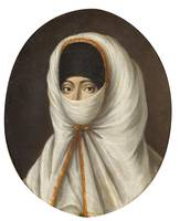 Continental School , A Veiled Lady