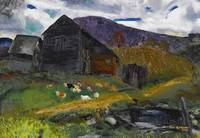 George Bellows 1882 - 1925 OLD BARN, SHADY VALLEY