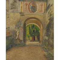 Isidor Kaufmann 1853-1921 AN IMPOSING ARCHWAY WITH