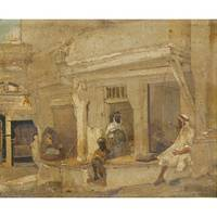 JAN-BAPTIST HUYSMANS ; THE COFFEEHOUSE SIDI-MOHAMM