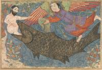 Jonah and the Whale, Folio from a Jami al-Tavarikh