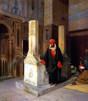 Ludwig Deutsch,(1855-1935) - Prayer at the Tomb (1