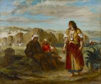 View of Tangier with Figures by Eugène Delacroix