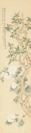 Zhang Xin (Circa 1744-After 1817) HIBISCUS AND FLO