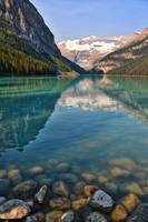 Lake Louise with Rocks by Carol Groenen