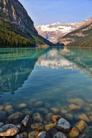 Lake Louise with Rocks