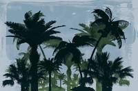 Exotic Palm Trees Silhouettes Water Color