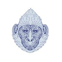 Cat Ba langur Head Mandala