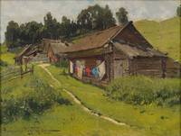 ALEXANDR MAKOVSKI, SUMMER IN THE VILLAGE.