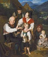 An Old Invalid with Three Children by Ferdinand Ge