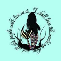 Love The World Mermaid Papercut Print