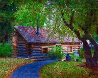 Log Cabin In The Woods by Kirt Tisdale