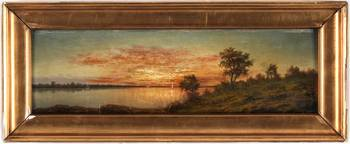 AUGUST MALMSTRÖM, Landscape Design with the lake i