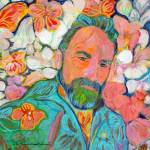 Artist in the flower bear garden by RD Riccoboni