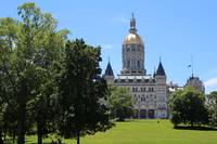 Hartford Capitol view from Bushnell Park
