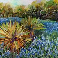 """""""Bluebonnets and Yucca"""" by HaileyWatermedia"""