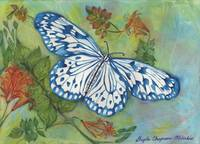 Blithesome Blue China Butterfly