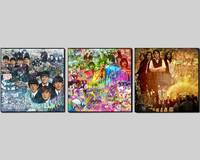 The BEATLES: A Visual Timeline on 3 Canvases