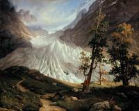 Grindelwald Glacier by Thomas Fearnley, circa 1837