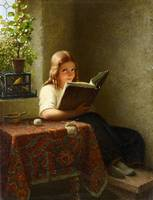 Johann Georg Meyer von Bremen, A Young Girl Readin