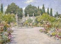 An Italian Garden by William Merritt Chase