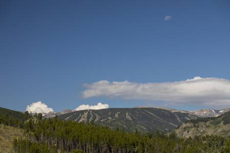 Moon Over Eldora Summer Season Ski Slopes