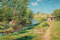JOHAN KROUTHÉN, SUMMER DAY BY THE STREAM. 2