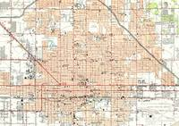 Vintage Map of Phoenix Arizona (1952)
